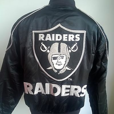 Los Angeles Raiders 1980's Varsity Jacket Nfl Football Shirt Campri Size Adult S