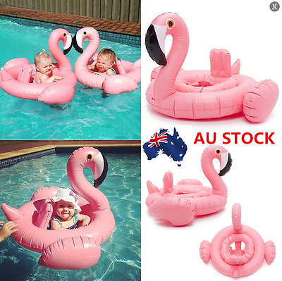 Kids Adult Swimming Float Inflatable Swim Ring&Glasses Flamingo Summer Party Toy