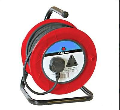 Heavy Duty 2Way Extension Reel 50M Power Cable 13A Lead
