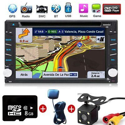 """6.2"""" Double Din GPS Navigation Car Stereo DVD MP5 Player FM Radio+Camera+MAP"""