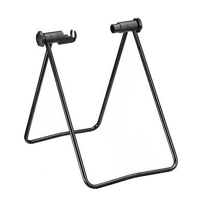 "New Bicycle Wheel Folding Maintenance Repair Stand Black 24-25"" Storage Rack"