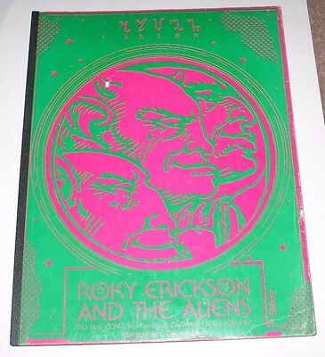 Roky Erickson & The Aliens - Alien Book 1977 Autographed By Roky!