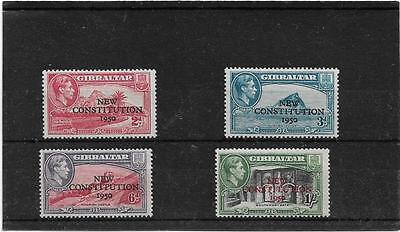 Gibraltar 1950 New Constitution Set Sg.140-143 Very Lightly Mounted Mint--Mlh