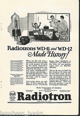 1924 RCA advertisement for RADIOTRON TUBES WD-11 & WD-12, Radio Corp. of America