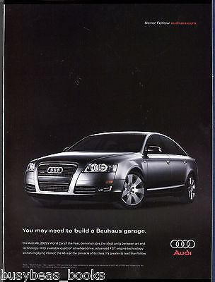 2005 AUDI A6 advertisement, Audi A6, build a Bauhaus garage