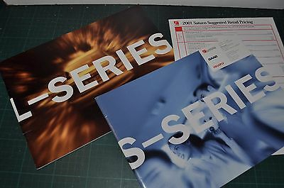 2001 SATURN Brochures x2, 20 page, Canadian, L & S series + price sheet