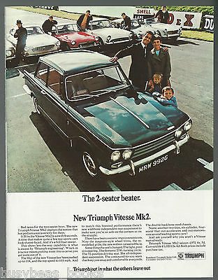 1969 TRIUMPH VITESSE Mk 2 advertisement, British advert, Triumph Vitesse Mark II