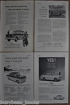 1959-61 VAUXHALL VICTOR advertisements x4 British adverts Vauxhall Motors Victor