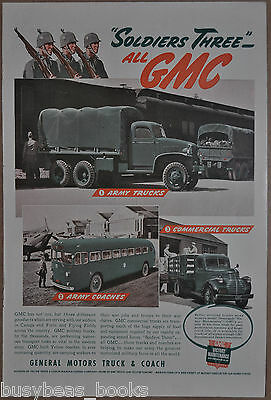 1942 GMC advertisement, US ARMY Trucks, buses, General Motors Corporation