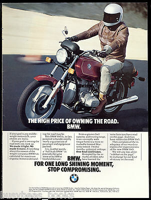 1980 BMW R65 motorcycle advertisement, BMW R 65 bike