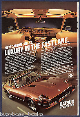 1981 DATSUN 280-ZX advertisement, Datsun 280 Z-X with T-bar roof