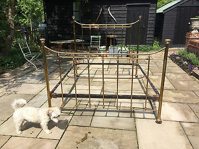 """A nice old Brass bed 62"""" wide- Circa 1900"""