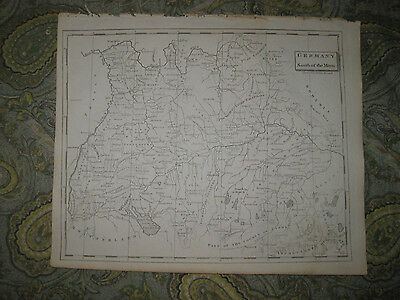 Antique 1805 South Southern Germany Copperplate Map Bavaria Wurttemburg Rare Nr