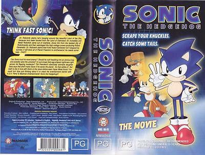 Sonic The Hedgehog Anime Pokemon  - The Movie Vhs Pal Video A Rare Find