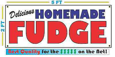 HOMEMADE FUDGE BANNER Sign NEW Larger Size Best Quality for the $$$ BAKERY