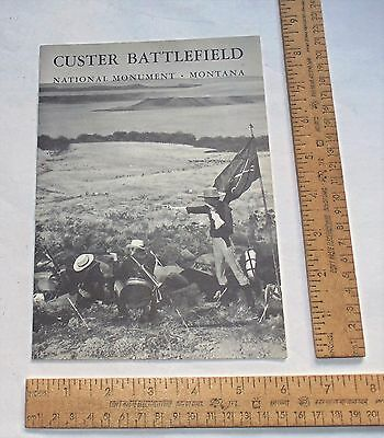CUSTER BATTLEFIELD National Monument - Montana - FOLD-OUT Pamphlet