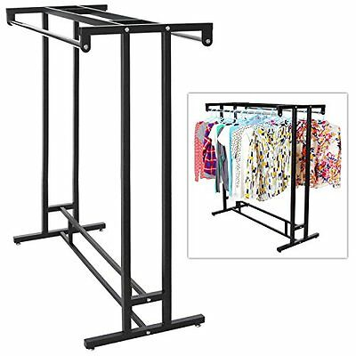 Stainless Garment Racks Steel Double Rod Hangrail Department Store Style Clothes