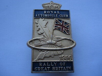 1956 R.a.c.(Royal Automobile Club)Rally Of Great Britain Competitors Lapel Badge