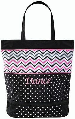 New Dance Bag Sassi Design Chevron Medium Tote w/ Zipper Shoe Compartment CHV-03