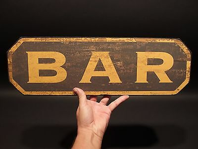 Vintage Antique Style Wood BAR Tavern Restaurant or Man Cave Trade Sign