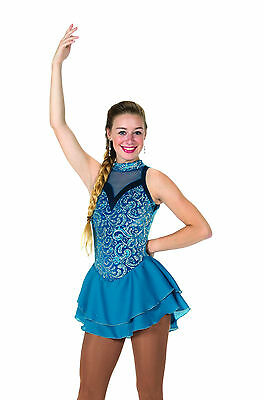 New Jerrys Competition Skating Dress 105 Teal Reveal Made on Order