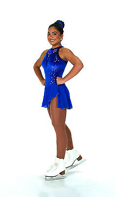 New Jerrys Competition Skating Dress 106 Lace Drop Blue Made on Order