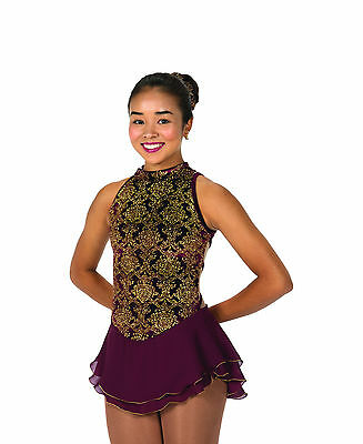 New Jerrys Competition Skating Dress 116 Essex Bordeaux Made on Order