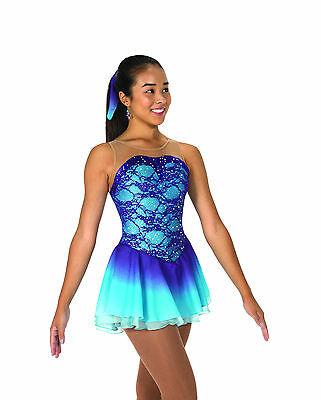New Jerrys Competition Skating Dress 71 Amathyst Sky Made on Order