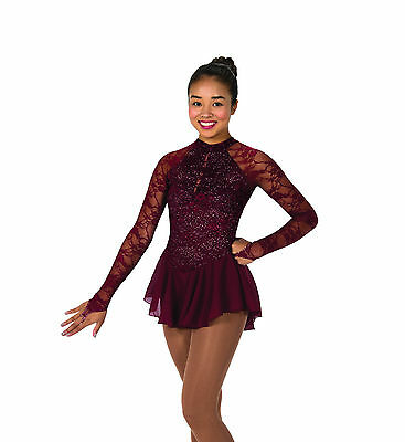 New Jerrys Competition Skating Dress 77 Fine Wine Dress Made on Order