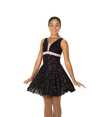 New Jerrys Competition Skating Dress 126 Enhance Black Pink  Made on Order