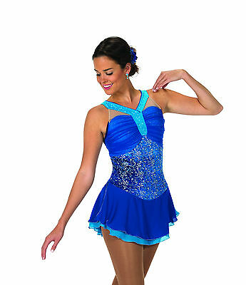 New Jerrys Competition Skating Dress 93 Jewel Blue Made on Order