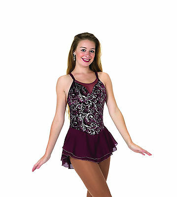 New Jerrys Competition Skating Dress 79 Bordeaux Berry Made on Order