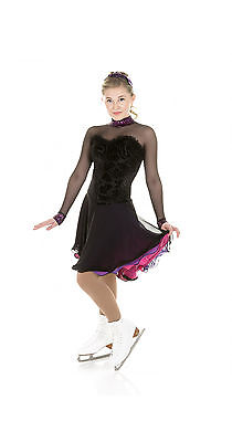 New Elite Xpression Ice Dance Synchro Figure Skating Dress D18DAN Made on Order