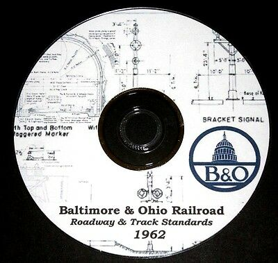 Baltimore & Ohio B&O Roadway & Track Standard Drawings PDF Pages  DVD