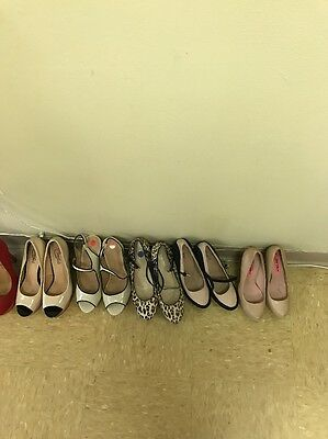 Lot 25 Pairs Heels Shoes Woman's Preowned