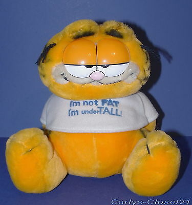 "GARFIELD * Vintage 1981 Soft Toy * Dakin * I'm Not Fat * 8"" (20cm) Tall *"