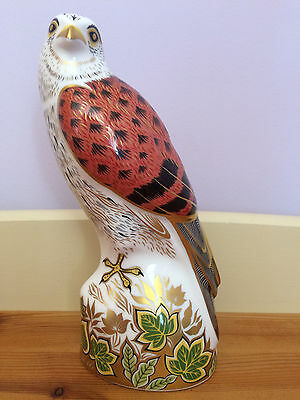 Royal Crown Derby - Kestrel Paperweight - 1st Quality - Gold Stopper - Boxed