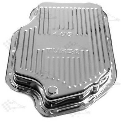Chrome GM Turbo 400 Transmission Oil Pan - TH400 - Finned Style