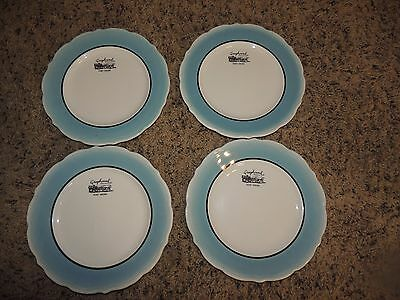 Vtg Restaurant Ware Greyhound Post House Bus Lines dishes set 4 Syracuse China