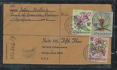 Guyana (Pp1906B) 1975 Orchid Stamps 10C+15C+50C Reg From Charity To Usa
