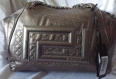 09d4ff4294b3 Versace Large Pluto Silver Leather Handbag  5