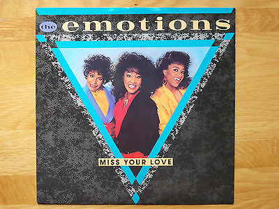 """The Emotions Miss Your Love 12"""" Promo Single 1985 N/mint"""