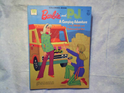 1973 BARBIE AND P.J. COLORING BOOK Camper no back cover