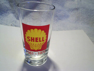 "SHELL 1961-1970 GASOLINE GLASS 4 5/8"" tall,gas,petroleum"