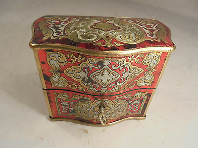 Antique Boulle Scent Bottle  Box  & Bottles , Mother of Pearl  ,  ref A1/any888