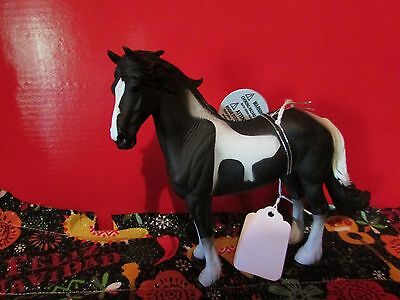 #88438 Corral Pals Black Barock Friesian Stallion Breyer Horse by Collecta NWT's