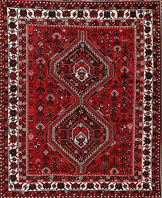 "Discounted Geometric Tribal 5x7 Shiraz Persian Oriental Area Rug 6' 8"" x 5' 4"""