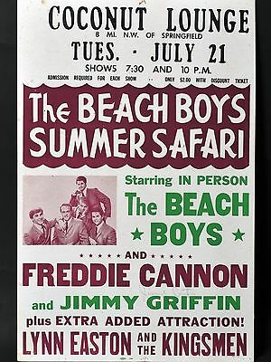 "The Beach Boys Springfield 16"" x 12"" Photo Repro Concert Poster"