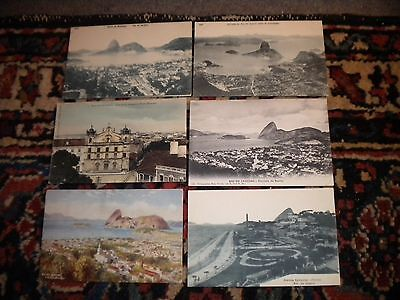 6--Scarce-C-1900S---Postcards--Of--Brazil