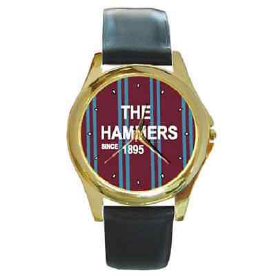 **new* The Hammers Since 1895 West Ham Round Wristwatch **superb Gift Item**